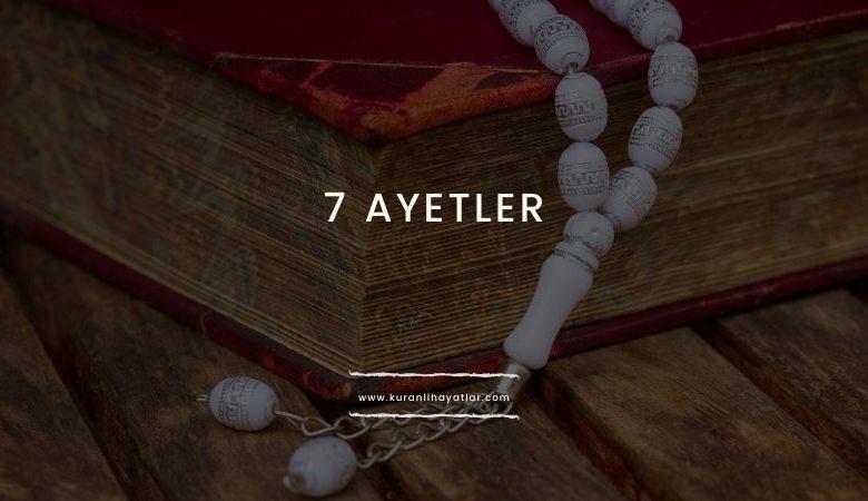 7 Ayetler