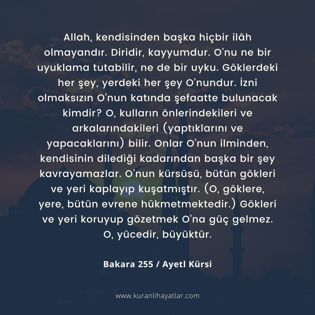 Ayetel Kürsi - Bakara Suresi 255