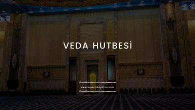 Peygamber Efendimizin Veda Hutbesi